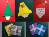 Children S Handmade Xmas Card Ideas origami Christmas Cards with Images origami Cards