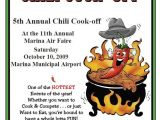 Chili Cook Off Flyer Template Free Chili Cook Off Rules Distribute the Flier Community