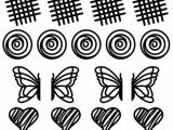 Chocolate Stencil Templates Lekue Kit Decomat Tappeto In Silicone Trasparente