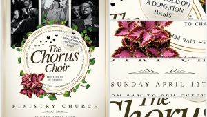 Choir Flyer Template Chorus Choir Flyer Template Flyerheroes