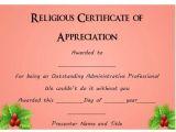 Christian Certificate Of Appreciation Template 50 Professional Free Certificate Of Appreciation