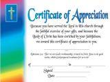 Christian Certificate Of Appreciation Template Certificate Of Appreciation Certificates Church