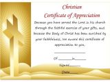 Christian Certificate Of Appreciation Template thoughtful Pastor Appreciation Certificate Templates to