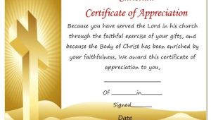 Christian Certificate Template thoughtful Pastor Appreciation Certificate Templates to