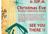 Christian Christmas Flyer Template Free Christmas Eve Service Church Flyer Template Flyer Templates