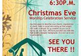 Christian Christmas Flyer Template Free Christmas Eve Service Church Flyer Template Flyer Templates
