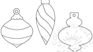 Christmas Baubles Templates to Colour Christmas Bauble Paper Garland Template Coloring Page