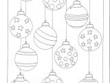 Christmas Baubles Templates to Colour Color Your Own Christmas ornaments Printable