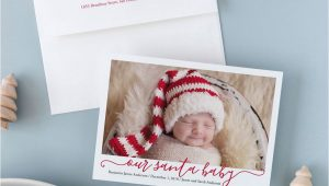 Christmas Card and Birth Announcement Our Santa Baby Holiday Photo Card by Meredith Collie for