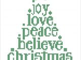 Christmas Card Cross Stitch Patterns Bogo Free Merry Christmas Christmas Tree Joy Love Believe