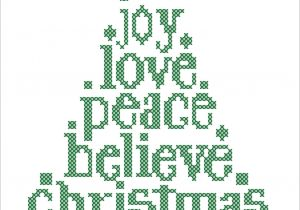 Christmas Card Cross Stitch Patterns Bogo Free Merry Christmas Christmas Tree Joy Love Believe