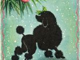 Christmas Card Ideas with Dog Vintage Christmas Card Poodle Card Vintage Poodle