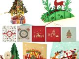 Christmas Card Inserts 6 X 6 Christmas Cards Ezakka 3d Christmas Cards Pop Up Holiday Greeting Gifts Cards with Envelopes for Xmas Merry Christmas New Year 5 Pack