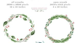 Christmas Card Template to and From Watercolor Christmas Wreath Clipart Christmas Card