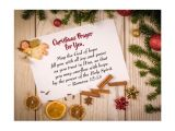 Christmas Card Verses for Mum Christmas Prayer for You May the God Of Hope Postcard
