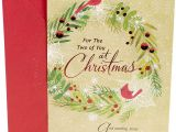 Christmas Card Verses for Mum Dayspring Religious Christmas Card for Couple Cardinals Wreath