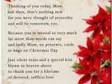 Christmas Card Verses for Mum Grave Card In Memory Of A Special Mum with Love at Christmas Free Card Holder C103