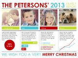 Christmas Card Year In Review Template Holiday Photo Cards Family Report by Custom Holiday Card