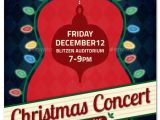 Christmas Concert Flyer Template Free Christmas Concert Music event Flyer or Poster event