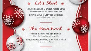 Christmas Day Menu Template Free Christmas Menu Templates Invitation Template