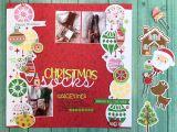 Christmas Die Cuts Card Making Christmas socks Doodlebug Design Caroli Schulz Scrapbook