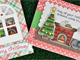Christmas Die Cuts Card Making Lawn Fawn Clear Stamp Christmas Dreams