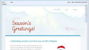 Christmas Email Templates for Outlook Messages Animated Email Templates for Christmas Campaign Monitor