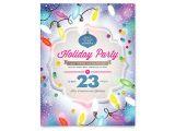 Christmas Flyer Templates Microsoft Publisher Holiday Party Flyer Template Word Publisher