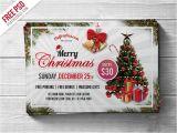 Christmas Flyers Templates Free Psd Free Psd Merry Christmas Party Flyer Psd Template by Psd