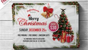 Christmas Flyers Templates Free Psd Free Psd Merry Christmas Party Flyer Psd Template by Psd
