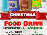 Christmas Food Drive Flyer Template Christmas Food Deive Template Postermywall