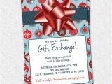 Christmas Gift Exchange Email Template Items Similar to Christmas Holiday Gift Exchange Party
