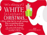 Christmas Gift Exchange Email Template Party Invitations White Elephant at Minted Com