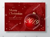 Christmas Greetings In A Card Merry Christmas Abstract Vector Greeting Card Poster or