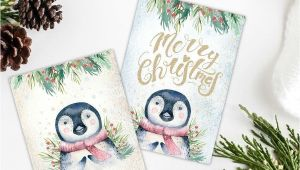 Christmas Ideas for Card Making Christmas Penguin Card Making toppers Gift Tags Scrapbook