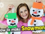 Christmas Ka Greeting Card Kaise Banate Hain How to Make Easy Paper Snowman Craft