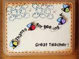 Christmas Message Card for Teacher M203 Thanks for Bee Ing A Great Teacher with Images