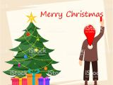 Christmas Message to Write In Card Merry Christmas Greeting Card Poster or Banner Stock