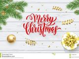 Christmas Quotes for Greeting Card Merry Christmas Holiday Golden Decoration On Xmas Tree