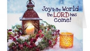 Christmas Quotes for Holiday Card Joy to the World the Lord Has Come Christmas Holiday Card