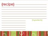 Christmas Recipe Card Template Free Editable 100 Microsoft Business Card Templates Resume Template