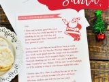 Christmas Recipe Card Template Free Editable Grab This Free Printable Letter From Santa with Images