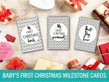 Christmas Restaurant Gift Card Deals Baby S First Christmas Milestone Cards