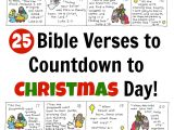 Christmas Scripture for Christmas Card Bible Verse Advent Countdown for Kids Free Printable
