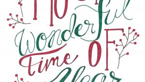 Christmas Verses for Card Making Most Wonderful Time Of the Year Christmas Print and Greeting
