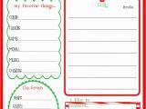 Christmas Wish List Template Pdf Childrens Christmas Wishlist Printable Keepsakes Logs