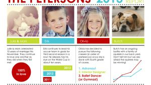Christmas Year In Review Card Holiday Photo Cards Family Report by Custom Holiday Card