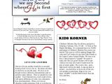 Church Email Newsletter Templates 8 Monthly Newsletter Template Psd Pdf Documents