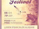 Church Flyer Template Free Autumn Festival Church Flyer Template Creative Psd