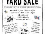 Church Yard Sale Flyer Template Church Yard Sale Flyer Gt Midwest Garage Sale